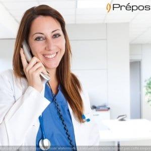 Une télésecrétaire médicale de la société Préposé au téléphone